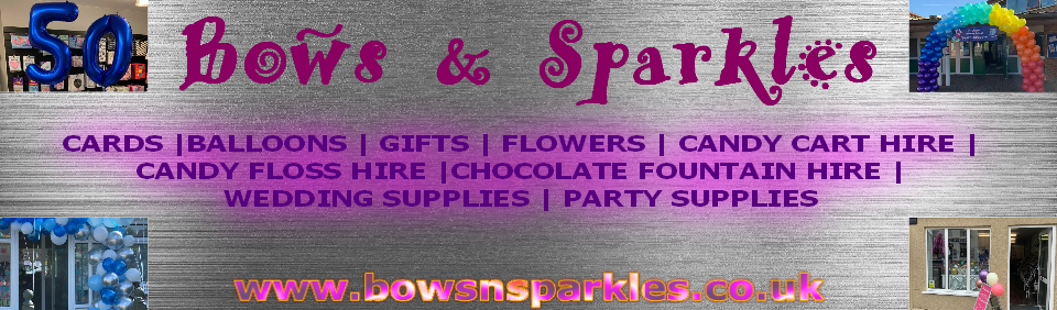 bows and sparkles banner